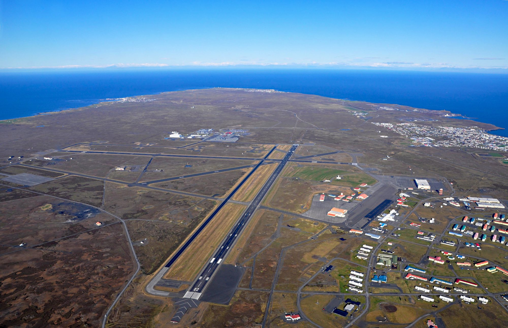 keflavik international airport from the sky