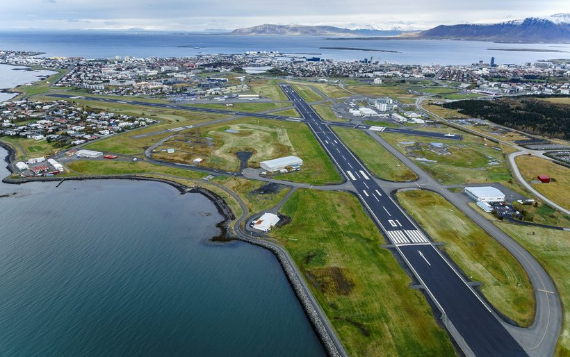 reykjavik airport from the air