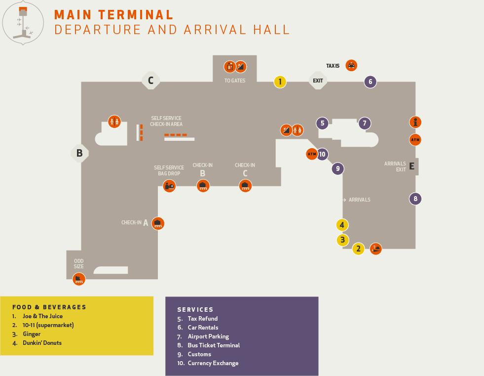 Keflavik Airport Map keflavik international airport map arrival departure   Iceland In